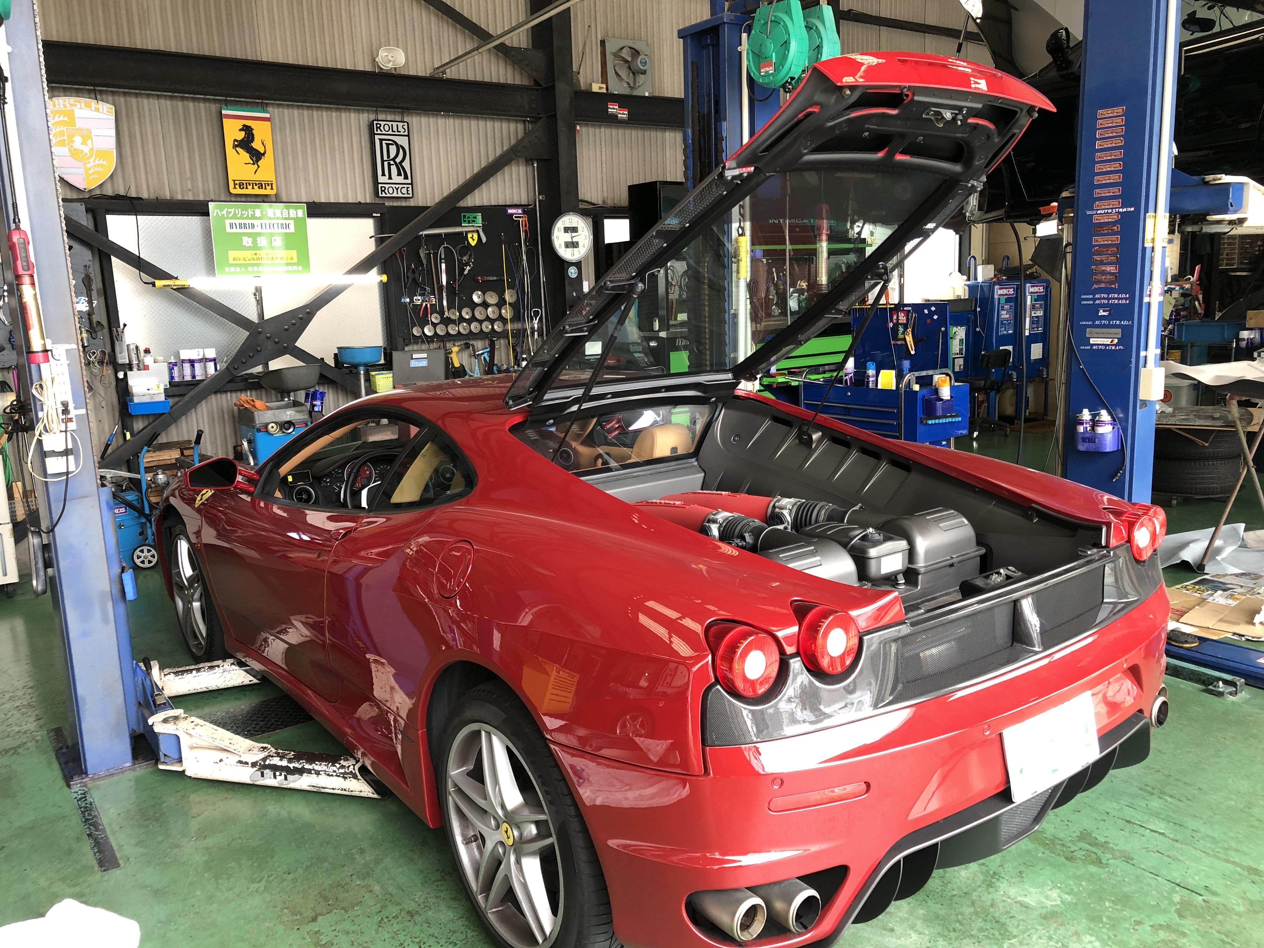 フェラーリ F430 オイル交換!